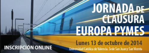 Programa Jornada Europa Pymes. Clausura Valencia