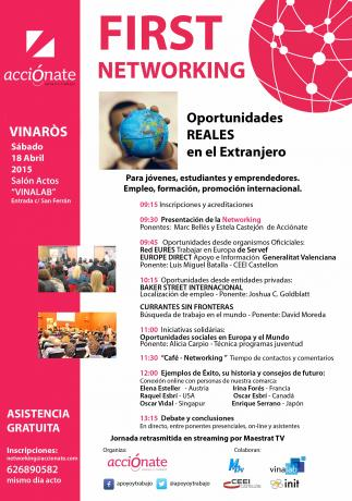"Networking ""Oportunidades REALES en el Extranjero"" First - Acciónate"