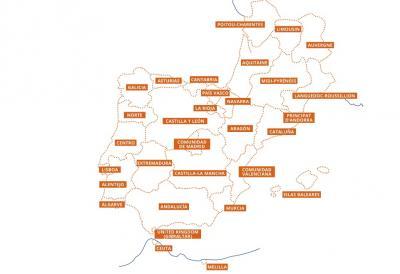 Regiones Interreg Sudoe