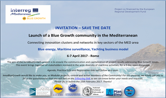 Blue Growth community in the Mediterranean