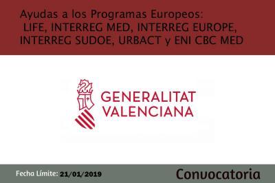 Convocatoria de ayudas a programos europeos