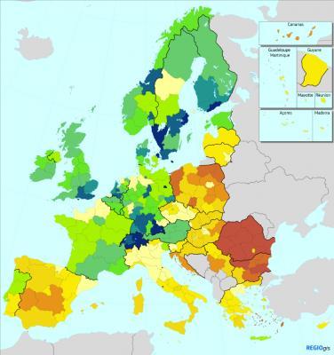 Mapa Innovación Regional Europa 2019