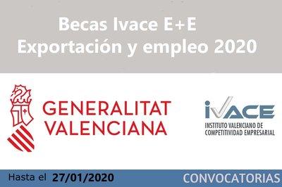 Becas IVACE E+E - Exportación y empleo 2020