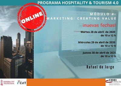 Programa de la 4ª sesión CdT. Marketing: Creating Value
