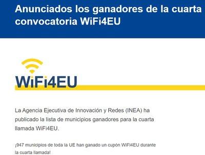 Anunciados los ganadores de la cuarta convocatoria WIFI4EU
