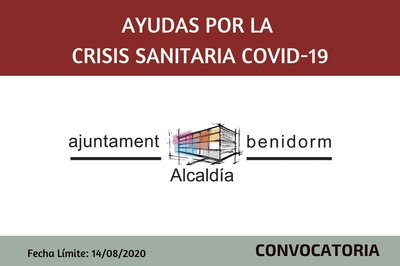 Ayudas por la Crisis Sanitaria del Covid-19 - Ayuntamiento de Benidorm