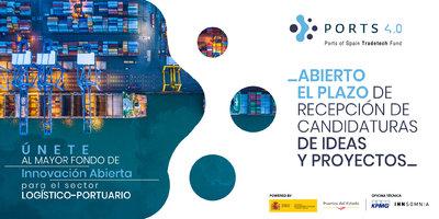 Abierto el plazo de candidaturas de ideas y proyectos del fondo Ports 4.0