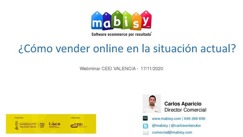 Presentación de Carlos Aparicio de Mabisy en la sesión Ecommerce y marketplaces: vender online en tiempos post covid