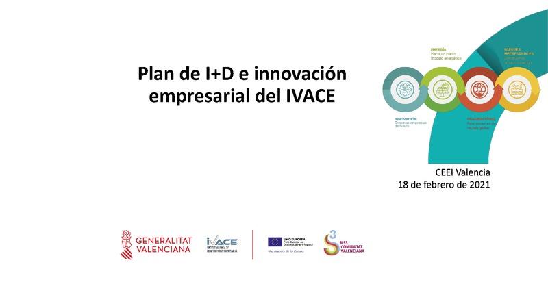 Plan de I+D e innovación empresarial del IVACE