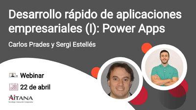 Webinar Desarrollo rápido de aplicaciones empresariales (I): Power Apps
