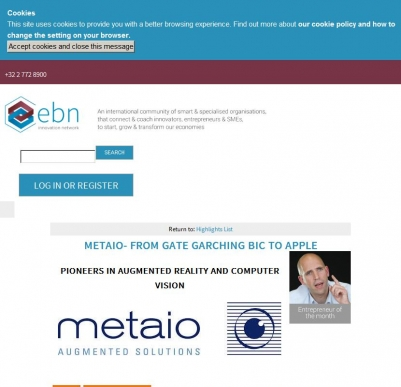 EBN - Entrepreneur of the Month... Metaio- From gate Garching BIC to Apple