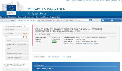 New Call for Proposal H2020
