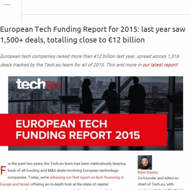 EU tech companies raised approximately €12 billion in funding last year