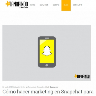 Marketing con Snapchat para empresas