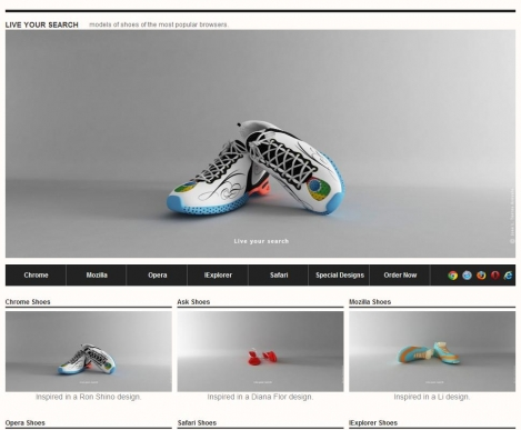 Live your search  Live your search - Models of shoes of the most popular browsers.